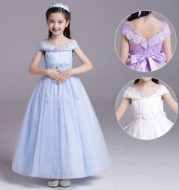 Wholesale new children wedding dress skirt a flower girl dress Princess Dress girls wear costumes sub floor