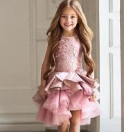 Children's dress princess dress flower girl wedding dress dress fluffy skirt piano host catwalk birthday costume