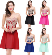 2021 speed sales through Amazon bursting summer women's Decal sexy back hollowed out a sleeveless dress skirt