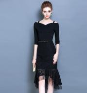 2020 new summer dress Couture summer party dress evening skirt thin little black dress.