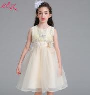 The new children's wedding dress skirt flower long sequined flower girl dress Princess Dress girls wear costumes