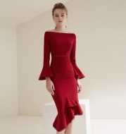 2020 new women's dress in autumn and winter