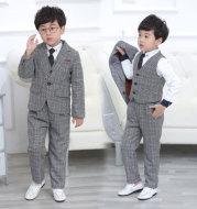 Children dress suit men's suits, three sets of 2021 children with velvet suit winter flower wedding dress.