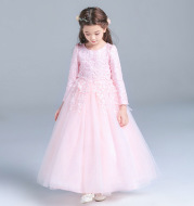 Princess Dress Girls Dress children dress skirt Tutu piano long sleeve wedding flower girl dress female autumn