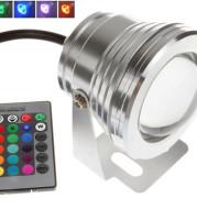 Led fountain lamp water lamp pool lamp underwater lamp 10W RGB water bottom lamp seven color remote control