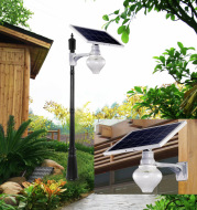 2020 solar energy integrated peach light street lamp courtyard lamp outdoor LED wall lamp Road District new light
