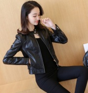 2021 spring and autumn dress new Korean Edition PU locomotive leather jacket leather jacket for women