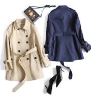 British style boutique double breasted coat 2021 female in long coats coat new coat clothing wholesale