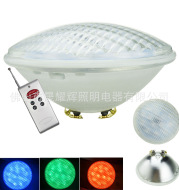 Supply PAR56LED underwater lamp 18W RGB seven color change wireless remote control pool special light waterproof IP68