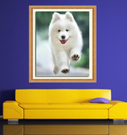 DIY diamond painting puppies full drill cross stitch living room decoration factory direct photo customization