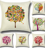 Fashion pillow rural smallcartoon creative Home Furnishing pillow cushion cover pattern trees without core
