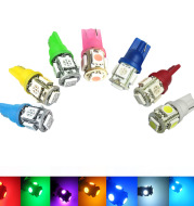 Automobile LED lamp T10 5050 5SMD car wide light 5050 chip car lamp instrument lamp 7 color