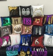 Factory direct supply of European double color glitter sequins pillow pillow Mermaid sleeve by a pillowcase customized wholesale