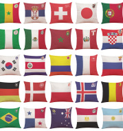 The 2020 top 32 World Cup soccer team logo Cotton Club sofa pillow pillowcase with gift