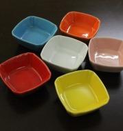 Square ceramic saucer kitchen multipurpose seasoning sauce vinegar sauce dish with multi colored glaze tableware home