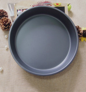 (8 inch) deep / shallow pizza disc eight inch round non stick stick carbon steel baking pan die
