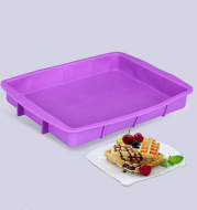 High tenderness, soft easy stripping, rectangular non sticky silicone cake mold, rectangular silicone pizza grill