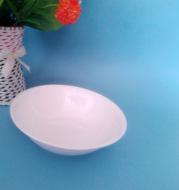 Shop 2 yuan spot 8 anti edge ceramic white soup soup kitchen daily wholesale ceramic tableware