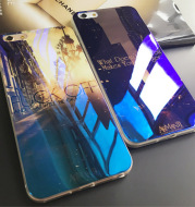 Blue light iphone6plus mobile phone shell 6S protection silica gel 5S lover personality set trend MLGB D4