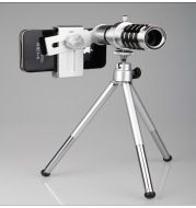 12X mobile telescope general 12 times long focal camera lens with three foot travel universal universal omnipotent