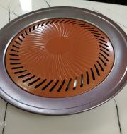 Korean barbecue plate stone stick round Aluminum Alloy Cassette Disc factory direct wholesale Korean barbecue