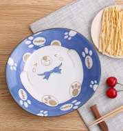 Japan imported Japanese kitchen utensils and wind round porcelain ceramic tableware lovely simple restaurant dining room home