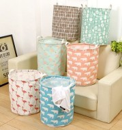 Foldable laundry basket, cotton and linen laundry basket, bathroom, laundry, dirty clothes, dirty clothes, toy storage basket