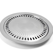 Direct selling stainless steel round home outdoor Korean barbecue plate electric pottery light wave furnace supporting gift