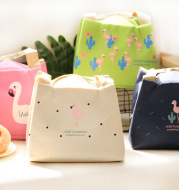 0202 Flamingo heat preservation lunch box pouch bag waterproof belt rice heat preservation bag aluminum foil thickened Lunch Bag