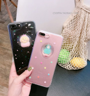 Lovely raincoat girl liquid water ball iphone7 plus cell phone shell6/6