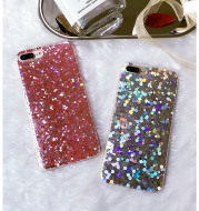Factory wholesale radium soft shell 68 mobile phone shell iphone7plus creative personality silicon rubber sequins tide