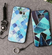 New Samsung GALAXY S7 mobile phone shell embossed silica gel S7 edge full package wholesale customization