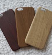 The explosion of mobile phone shell 6S iPhoneX spot imitation wood grain husk7plus ultra-thin PU protective sleeve