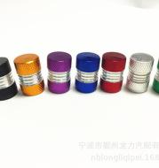 Automobile bicycle tire aluminum alloy valve cap dust cap dust cap dust cap gas nozzle cap seven color spot