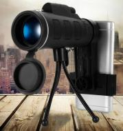 40X60 Monocular BAK4 Monocular Telescope HD Night Vision Prism Scope With Compass Phone Clip Tripod for Outdoor Activities