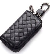 Car key case leather key case men's woven