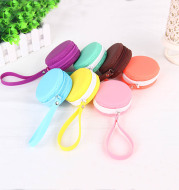 Macarons Small Wallet Purse cute Korean female Mini coin bag candy color headset package