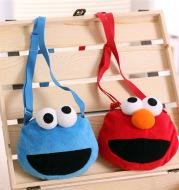 Sesame Street Elmo CookieBaby Toddler Plush Satchel Purse Satchel red blue cartoon