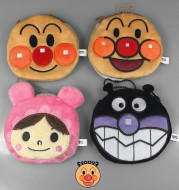 Bread Superman zero purse ANPANMAN Japanese cute cartoon soft lotion bag hanger headset