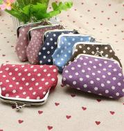 Linen dots zero purse cloth coin bag children wallet creative Taobao small gift wholesale