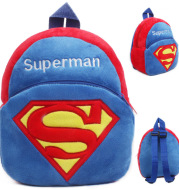 Cute little superhuman baby early childhood schoolbag 1-2 year old baby book bag baby bag children's bag