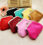 Autumn winter candy color wool zero wallet student cloth coin bag children small purse small gift wholesale