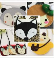 Manufacturers Korean cartoon baby non woven fox zero wallet girl single shoulder slant bag child bag