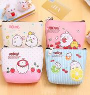 0583 creative potato rabbit zero wallet Korean version PU waterproof hand with small pocket Mini cute coin earphone receiving bag