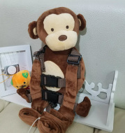 New monkey against lost knapsack cartoon children's book bag baby safety step belt Toy Plush bag
