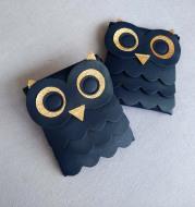 The latest version of PU all-match spot children owl satchel children Single Shoulder Bag Purse