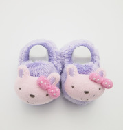 Female baby wool shoes cartoon cute rabbit bow tie baby shoes fashion leisure winter money and warm shoes