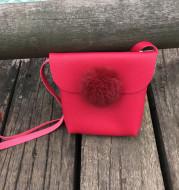 2021 new hair ball children slant bag for Korean autumn winter girl children's new year slant bag parent-child bag