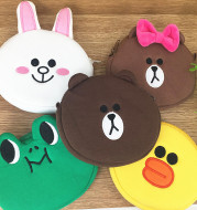 Korean cute face series of brown frog rabbit expression has an other change package bag
