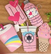 Korea creative drinks ice cream Mini Purse children coin Keychain small bag bag bag